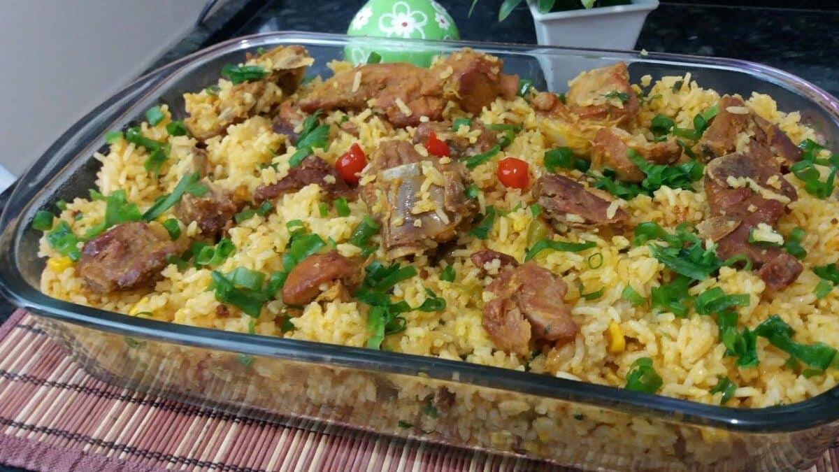 Foto de Receita de arroz caipira com costela