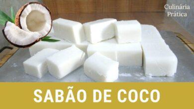 Sabão de coco caseiro sem soda e óleo