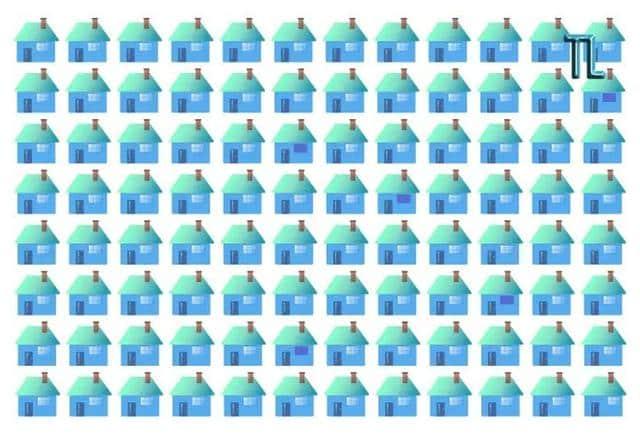 Você vê as 5 casas diferentes das demais na imagem? Divirta-se com este desafio viral.