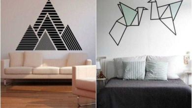 Dicas de como decorar paredes com fita isolante