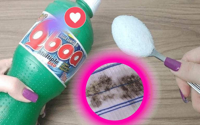 Receita caseira para remover mofo nos panos de prato e nas roupas